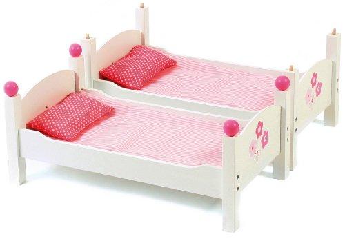 CHIC 2000 Bayer Doll Fiori Bianco Design Bunk Bed