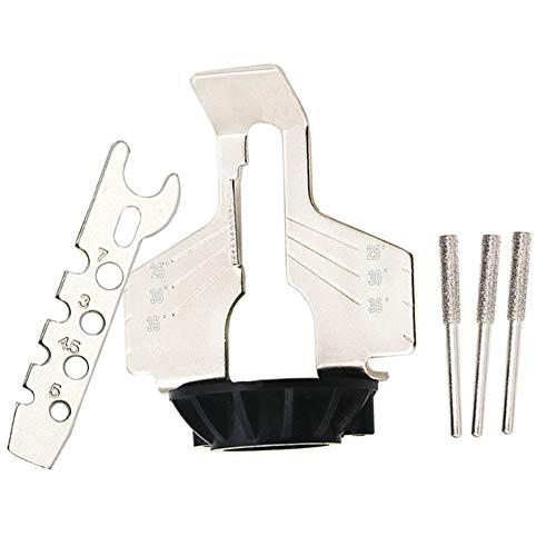 Liamostee - Kit de Afilado de Motosierra eléctrica para afilar y pulir Cadenas de Sierra