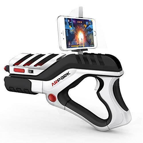 Kaneed Gamepad A8 AR Gun Shaped Bluetooth Wireless Game Controller mit Handy-Clip, für Android/iOS-Geräte/PC - Gun-clips