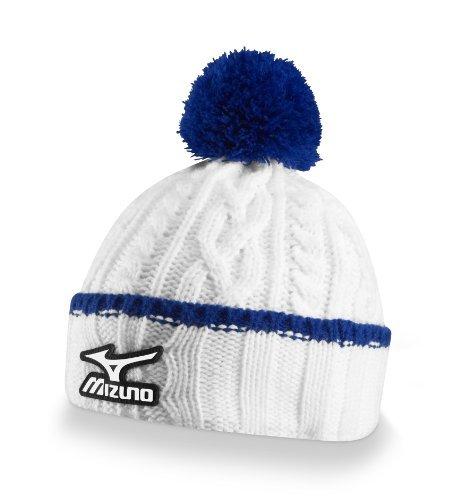 Mizuno Golf Cable Knit Bobble Hat, White by Mizuno