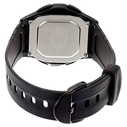 Casio Collection F-200W-1AEF, Reloj Redondo para Mujer, Digital, Acero Inoxidable, Negro