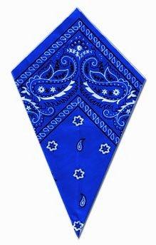 Bandana blu paisley foulard