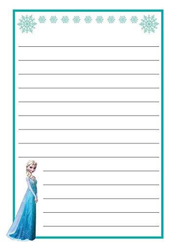 25Blatt A5, & 25Umschläge C6Elsa Frozen Motto gefüttert Schreibpapier, Cartoon Design–Free P & P