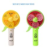 Jiada Fruit Design Mist Spray Fan Toy For Kids | Multicolor (Pack Of 2)