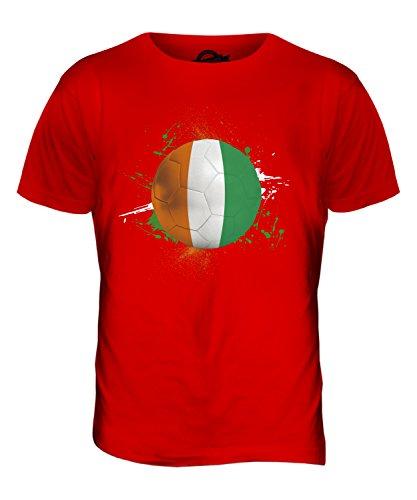 CandyMix Costa D'Avorio Calcio T-Shirt da Uomo Maglietta Rosso