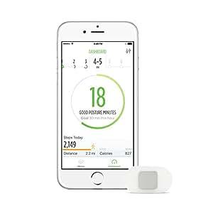 Lumo Dispositivo per il monitoraggio di attività e postura per iPhone/iPad/iPod, Nero (schwarz - schwarz)