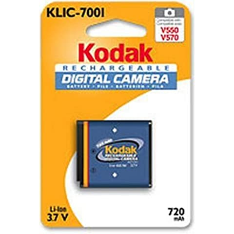 Kodak Li-Ion Rechargeable Digital Camera Battery KLIC-7001 - Batería/Pila recargable (720 mAh, Ión de litio, 3V, 3,7V,