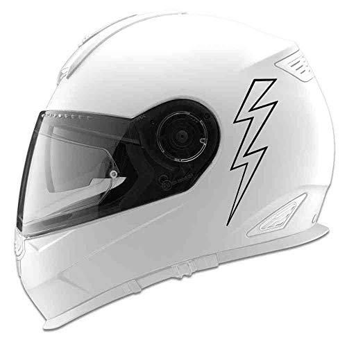 DECTN Spaventato Fulmine Silhouette Auto Car Racing Moto Casco Motociclo Decalcomania E Grafica Arte Vinile Murale S 15Cm X 15Cm Argento