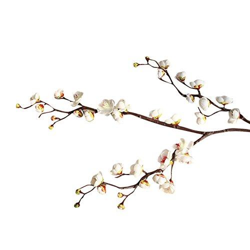 Lazzboy Artificial Silk Fake Flowers Plum Blossom Floral Wedding Bouquet Party Blumen Deko, Chinesischer Stil Pflaumenblüte Künstliche Seide Gefälschte Haus Garten Hochzeit Decor(E)