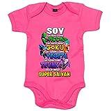 Body bebé Dragon Ball soy el mejor Super Saiyan - Rosa, 12-18 meses