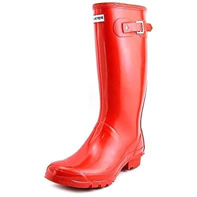 Hunters Huntress Gloss, Rubber Boots Women red Size: 9 UK