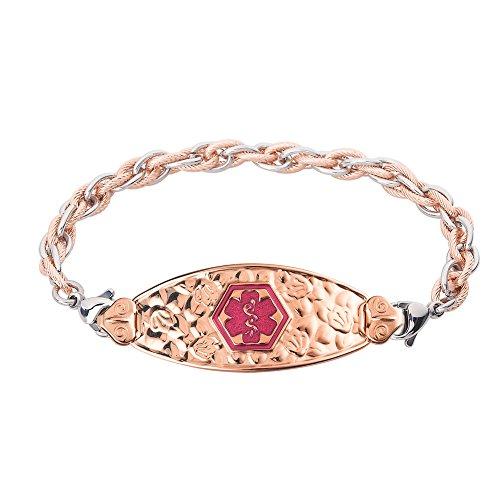 divoti-custom-engraved-pvd-rose-gold-cherry-blossom-medical-alert-bracelet-inter-mesh-rose-gold-silv