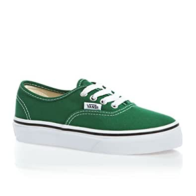 Vans Authentic Green Kids Trainers Size 1.5 UK