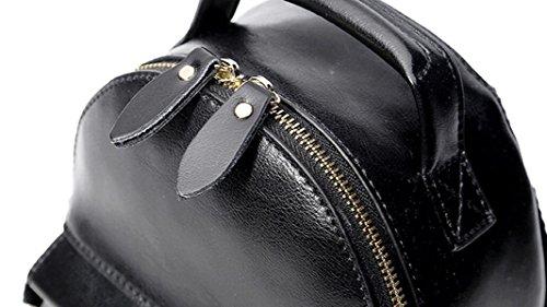 La Signora Simpatico Mini In Pelle Zaino Di Svago Vento Collegio Black