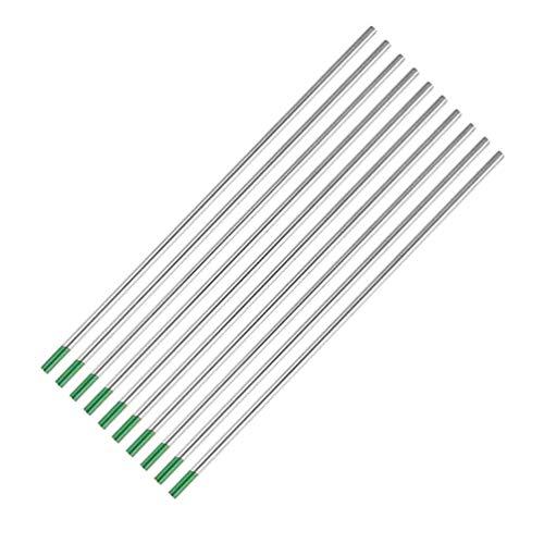 Wolfram-Elektrodenschweißstäbe Green Head 10 Stücke Wolfram-Lichtbogenschweißen Wolfram-Wig-Stab für Schweißgerät - 1,6 * 150 Mm -