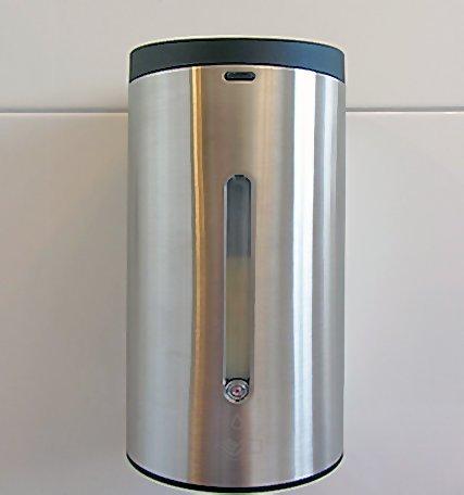 Sensor Seifenspender Edelstahl mit automatischer Auslösung -Komplettpaket incl. Batterien Infrarot / automatic soap dispenser /