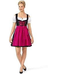 Original Steindl München-Salzburg Dirndl 2tlg. Damen schwarz/pink