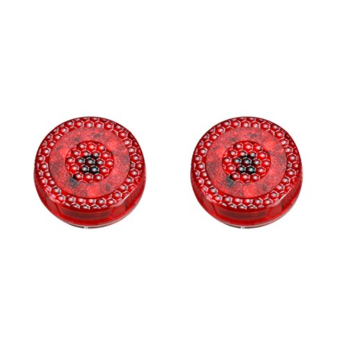 Preisvergleich Produktbild Car Door Warning Light, 2 PCS 5 LED Wireless Car Safety Anticollision Lights Lamp,  Door Open Safety Reflector for Anti Rear-end Collision Any Car Instant Switch On / Off Waterproof,  Red