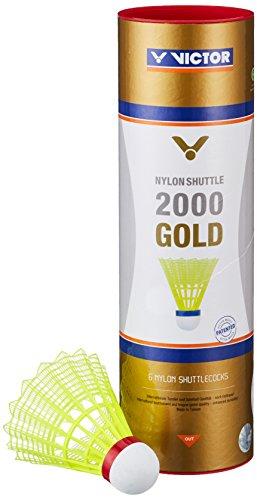 f451ad548c Victor International Nylonball Shuttle 2000, Volants badminton, Multicolore  (Gelb/weiß),