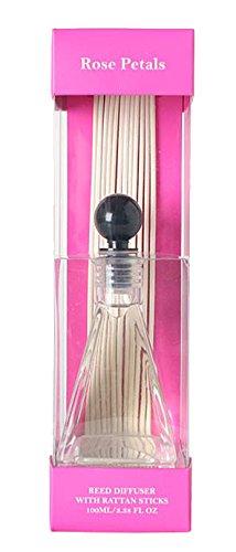 's Premium Grade Rosenblätter Reed Diffusor, Set of 2, 100ml. Bulk kaufen. Ideales Geschenk für Hochzeiten, SPA, Reiki, Meditation, Badezimmer Einstellungen (Bulk-rosenblätter)