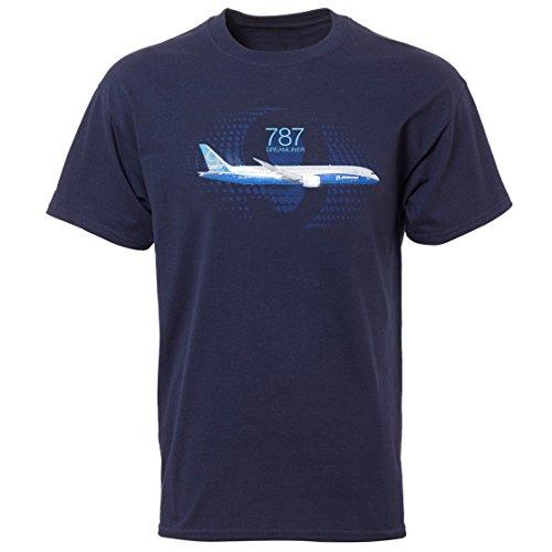 boeing-perfil-787-dreamliner-graphic-t-camiseta-de-manga-corta