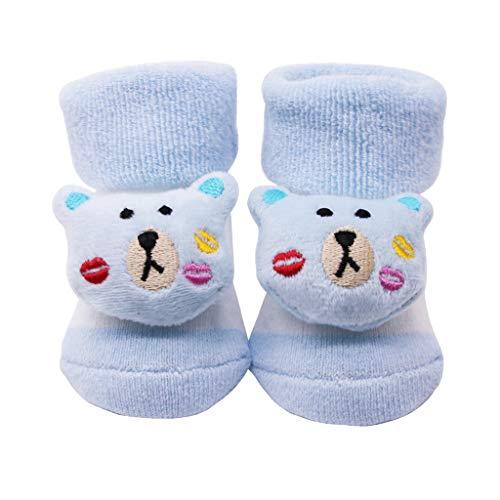 LSAltd Baby Säuglingssocken Neugeborene Baumwolle Jungen Mädchen Anti-Rutsch-Socken Cartoon Bell Socken