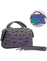 2a62d9bd31 Women ' s Night luminescenti Triangolo Geometrico Hovering Pieghevole  Grande capacità Elegante Opaco colorato Moda Crossover