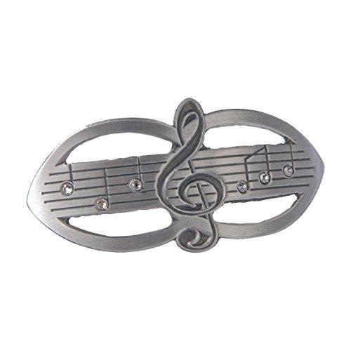 Haarspange Violinschlüssel / Notenschlüssel mit Swarovski-Steinen - Schönes Geschenk für Musikerinnen