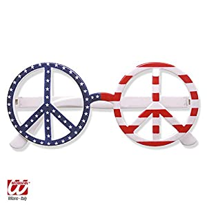WIDMANN American hippy glasses (accesorio de disfraz)