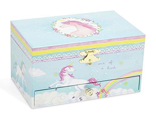 8754ee15f4a1 JewelKeeper - Joyero Musical con Unicornio y Arco Iris
