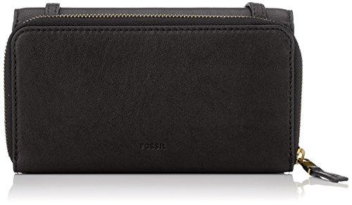 Fossil Mini Tasche (Fossil Damen Tasche Brynn - Mini Bag Geldbörse, Schwarz (Black), 5.1x10.2x20.3 cm)