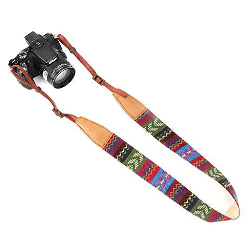 dslr tragegurt Jeracol Kamera Gurt Böhmen weich langlebig Hals Universal Camcorder Gürtel Schultergurt für alle DSLR Kamera Nikon Canon Sony Olympus Samsung Pentax Fujifilm, bunt