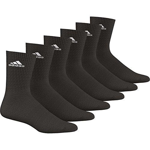 Adidas Socken 3S Performance Crew HC 6PP 12er Pack, Größe:39-42;Farbe:Schwarz (AA2295)