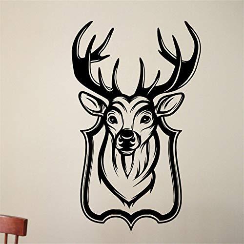 woyaofal Adesivi murali Adesivo De Parede Testa di Cervo Murales Speciali Soggiorno casa Cool Decor Serie di Animali Selvatici Art Sticke 80 x 49 cm