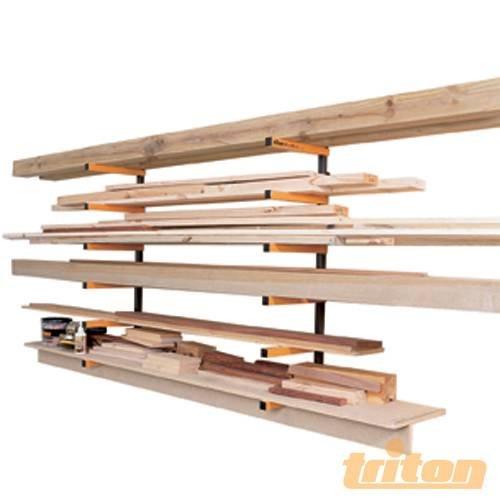 Woodrack Archivierungssystem, WRA001, bietet einen großzügigen Speicherkapazität für Bauholz, Rohren und anderen langen Gegenstände. Für Innen- und Außenbereich auf verschiedene Art und Weise Werkstatteinsatz, Garagen, Schuppen, auf Zäunen und Wände sorgen für zwölf 6 Stufen etc, unterstützt Speicherplatz. Einfache Installation.