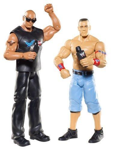 WWE Battle Pack: John Cena vs. The Rock Figure 2-Pack Series 15 by Mattel (English Manual)