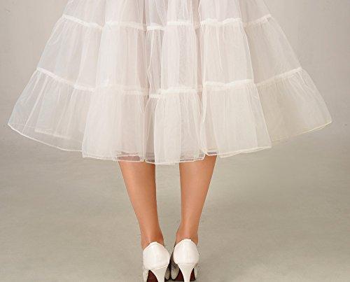 VKStar® Kurz elastische Taille petticoat Krinoline Unterrock Reifrock für Kleider Elfenbein