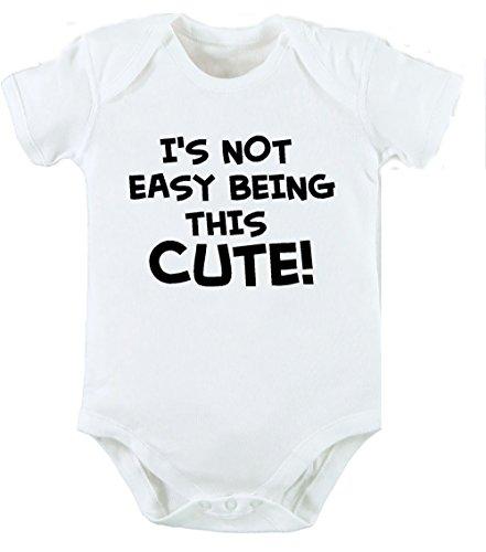 Easy Being This Cute New Born Cute Funny Baby Geburtstag Geschenk Unisex Body Grow Weste–Alle Größen (Baby-dusche-its A Boy)