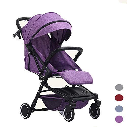HZC Kinderwagen, Klappkinderwagen Leichter Kinderreisebuggy Kinderwagen System Stubenwagen for Neugeborene und Kleinkinder (Farbe : Lila)