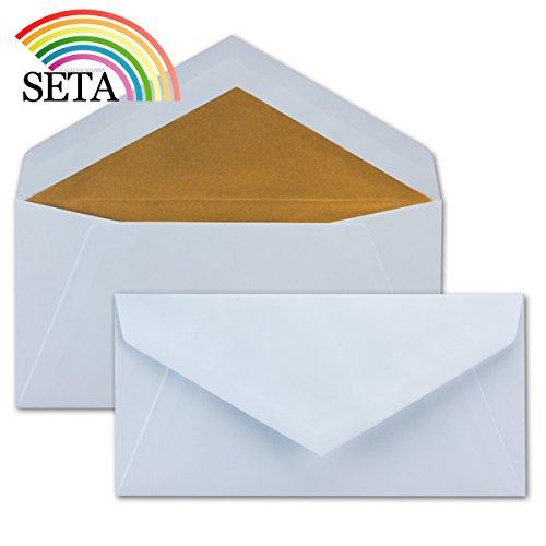 d | 100 Stück | Brief-Umschläge in DIN Lang Format mit matter Oberfläche & hochwertiger Fütterung | formstabile Post-Umschläge für Weihnachten & festliche Anlässe | ohne Fenster (Halloween-brief Für Die Eltern)