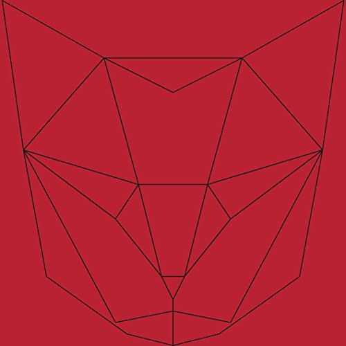 Geometric Cat Men's Graphic T-Shirt - Design By Humans Red