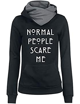 American Horror Story Normal People Scare Me Jersey con Capucha Mujer Negro/Gris