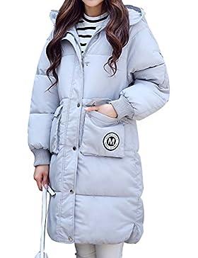 Abrigo en tejido acolchado con capucha para las mujeres, perfecto para invierno, 4 colores, Talla de S a XXL