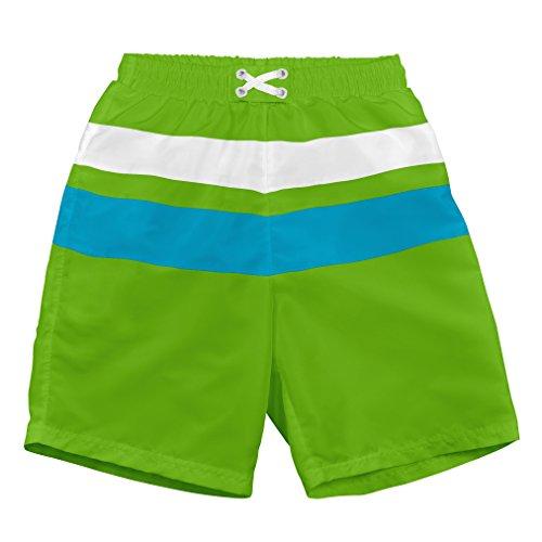 i play. 722103-504-43 Schwimmwindel- Badeshorts Farbblock 6-12 Monate, lime / aqua (Füßlinge Aqua Keine)