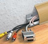 Kabelkanal Sockelleiste/Fußbodenleiste in 6 Dekoren [Eiche, 10m]