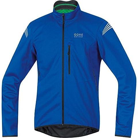 Gore Bike Wear Element Windstopper Soft Shell - Chaqueta para hombre, color azul, talla L
