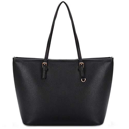 COOFIT sac cabas femme sac a main femme noir sac fourre tout femme grand sac femme sac a main pour les cours lyc