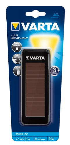 Varta - 17690 - Torche Solaire LED Batterie Légère - 3,6V Lithium - 3x5mm - portée 24m