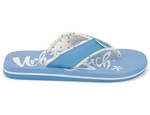 Sommer Lovin' Mädchen Stoff Gurt Flip Flops Blau - hellblau