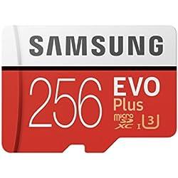 Samsung MB-MC256GA/EU EVO Plus Scheda MicroSD da 256 GB, UHS-I, Classe U3, fino a 100 MB/s di Lettura, 90 MB/s di Scrittura, Adattatore SD Incluso